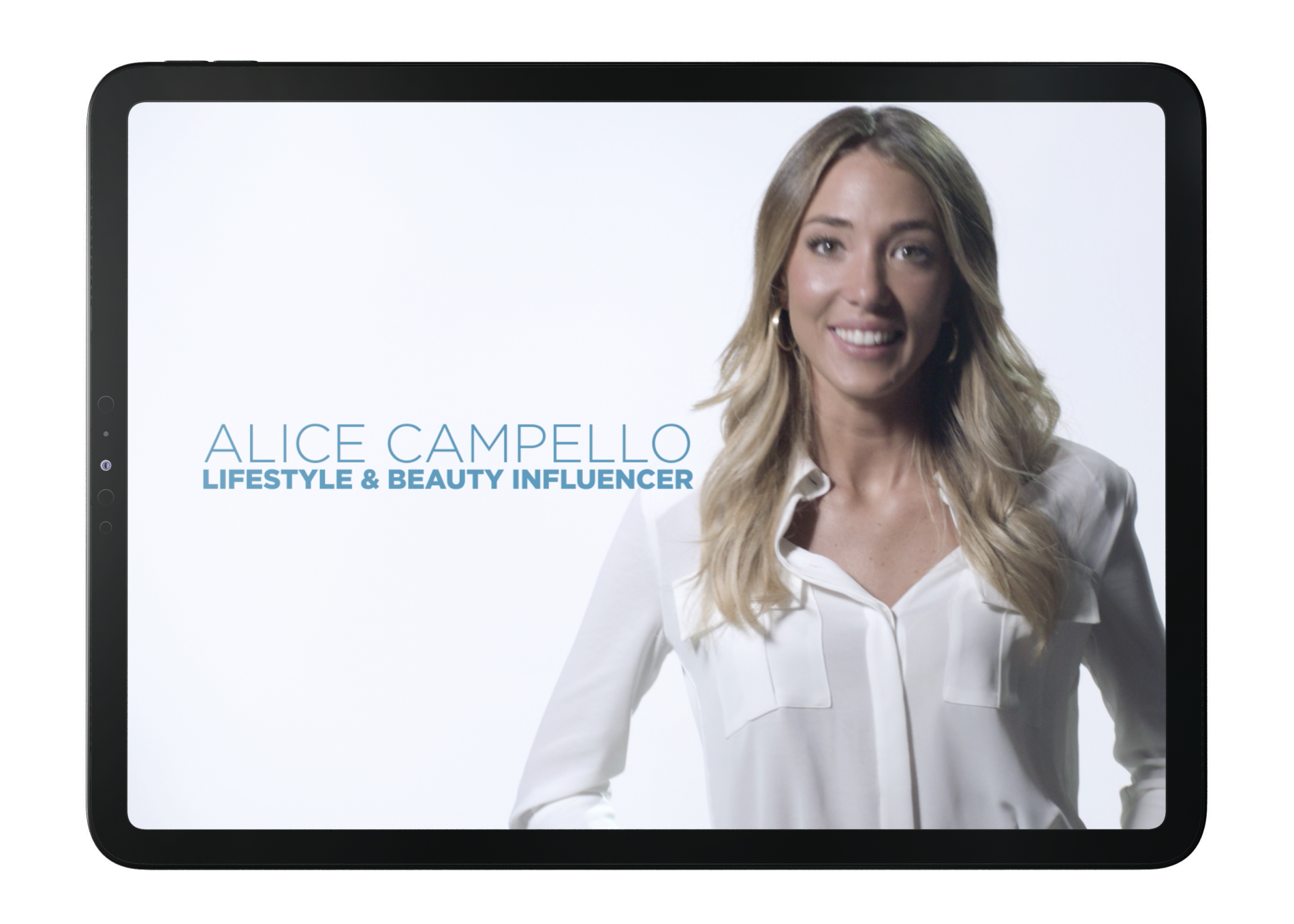 Alice Campello the influencer chosen by Insana
